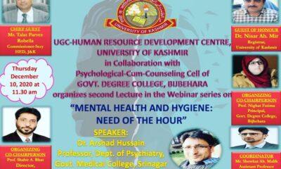 Webinar on COVID19 & Mental Health